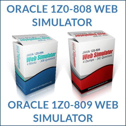 Oracle Java Web Exam Simulator
