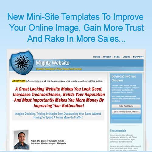 Mini Site Templates
