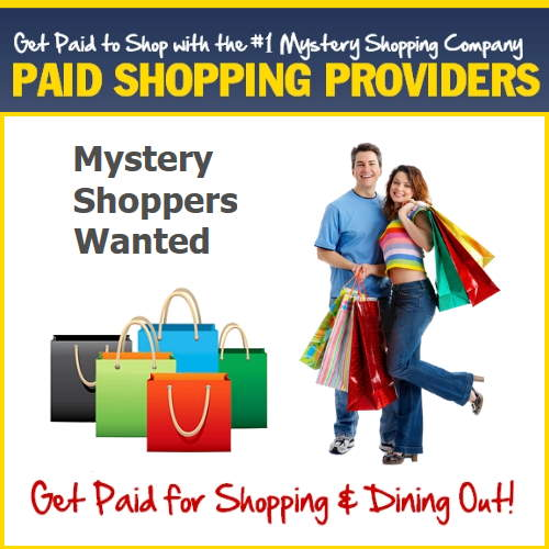 Paid Shopping Mystery Shoppers