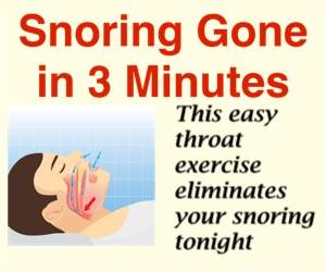 Snoring Gone in 3 Minutes!