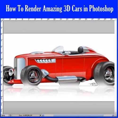 3D Car Rendering in Photoshop
