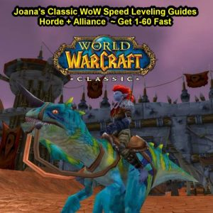 Joana's Classic WoW Speed Leveling Guides