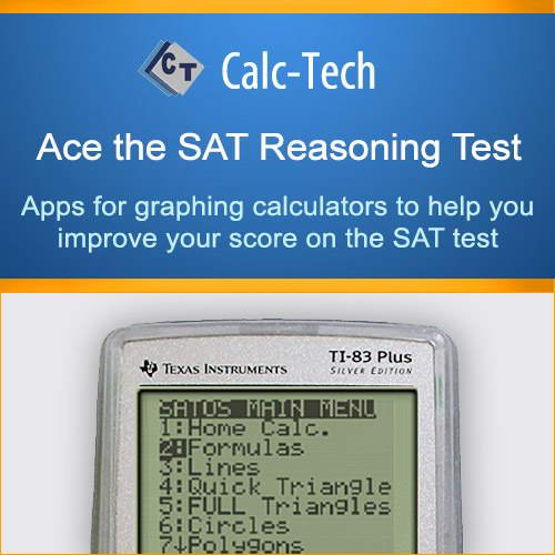 Calc-Tech Ace the SAT