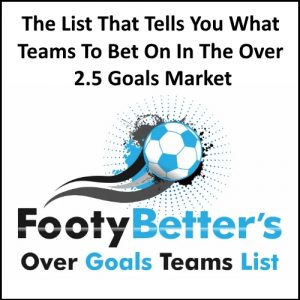 Over Goals Teams List